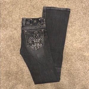 Miss Me Bootcut, size 27 (black/gray faded wash)